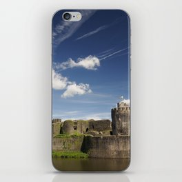 Caerphilly Castle, Wales. iPhone Skin