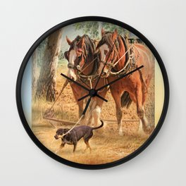 If You Want The Job Done Wall Clock