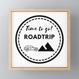 Tiempo de viajar | Time to go Roadtrip Framed Mini Art Print