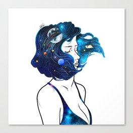 blowing  universe mind. Canvas Print