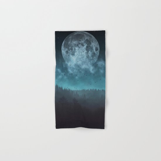 Moon over Trees Hand & Bath Towel
