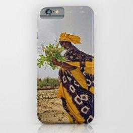 Fatimata in the village garden, Timbuktu iPhone Case