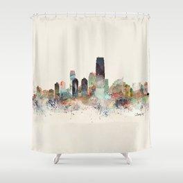 jersey city skyline Shower Curtain