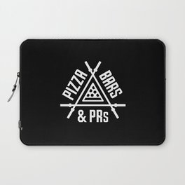Pizza, Bars and PRs Laptop Sleeve
