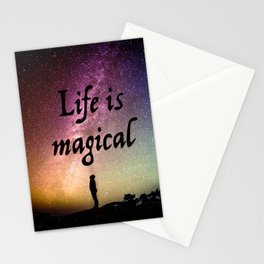 Life is magical Stationery Cards