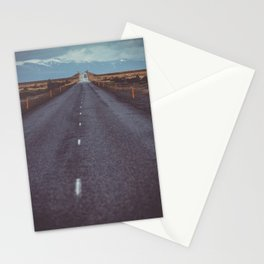 Iceland Travel Landscape Road Stationery Cards