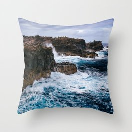 Ocean Power Throw Pillow