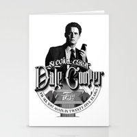 dale cooper Stationery Cards featuring Dale Cooper - Twin Peaks by KevinART
