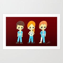 Dani, Mariona i Lucas Art Print