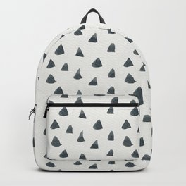 Geometrical black white hand painted watercolor triangles Backpack