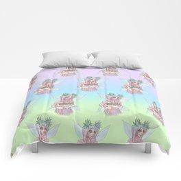 Fairy Cat Mother Comforters