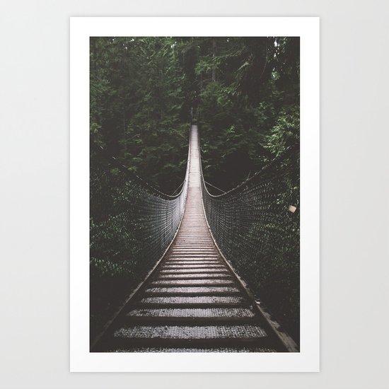 Lynn Canyon Suspension Bridge Art Print