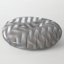 Metal Wave Silver Floor Pillow