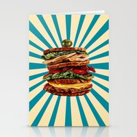 catcher in the rye Stationery Cards featuring Turkey Club on Rye by Kelly Gilleran