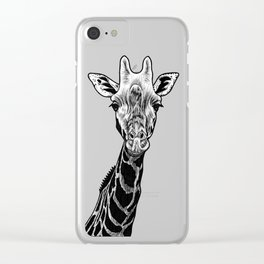 Giraffe - ink illustration Clear iPhone Case