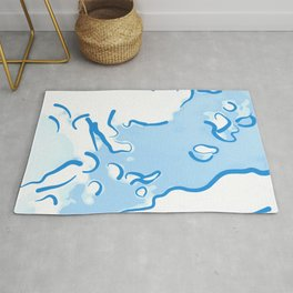 spotted abstract line art 2 abswb Rug