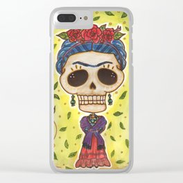 Frida Day of the Dead Clear iPhone Case