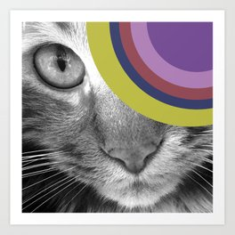 Pshycedelic Cat Art Print