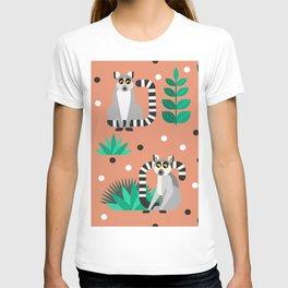 Lemur pattern T-shirt