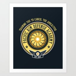 Pacific Rim Defense Academy Art Print