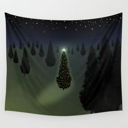 Christmas Tree Green Wall Tapestry