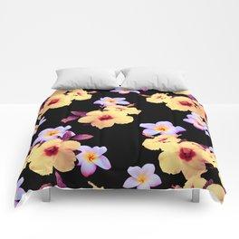 Hibiscus and Plumeria Comforters