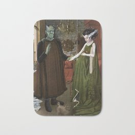 Portrait of Frankenstein's Monster and his Wife Bath Mat