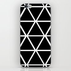 BLACK & WHITE TRIANGLES 2 iPhone & iPod Skin