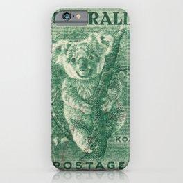 Vintage Koala Stamp iPhone Case