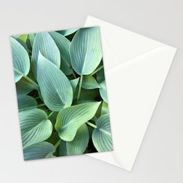 Perfect green leaves Stationery Cards
