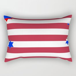 PATRIOTIC JULY 4TH  RED STARS DECORATIVE DESIGN Rectangular Pillow