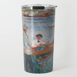 Oarsmen at Chatou Painting by Auguste Renoir Travel Mug