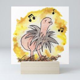 Oscar The Orgo Dinosaur Mini Art Print