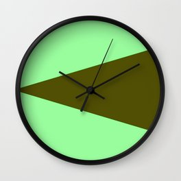 just two colors 6: dark and light green Wall Clock