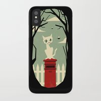 yetiland iPhone & iPod Cases featuring Let's meet at the red post box by Yetiland