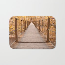 Golden Grove Suspension Bridge Bath Mat