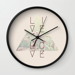 Live & Love Vintage Wall Clock