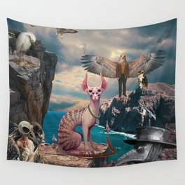 Birds with Cat Wall Tapestry