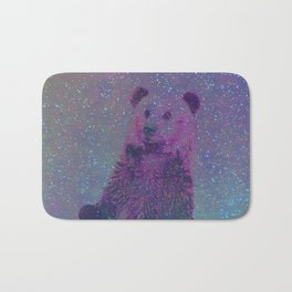 Bear Nebula (brown bear in the stars) Bath Mat
