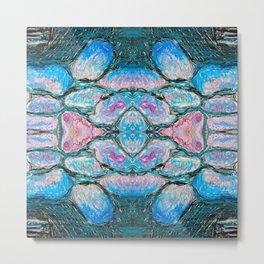 Frozen Night Symmetry Metal Print