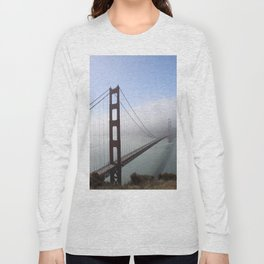 Golden Gate Bridge On A Foggy Morning Long Sleeve T-shirt