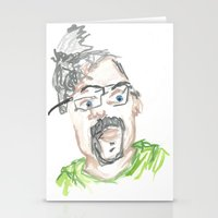 kevin russ Stationery Cards featuring Kevin by Sadie Padial