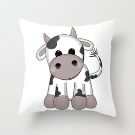 Cuddly Cow Throw Pillow