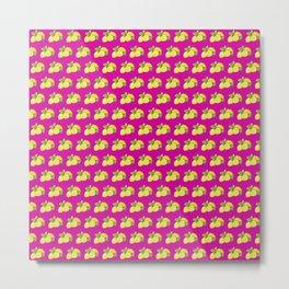 Lemons on pink Metal Print
