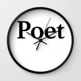 Poet Wall Clock