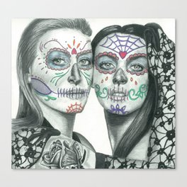 Meryl Streep and Lindsay Lohan  Canvas Print