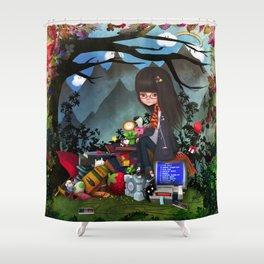 Nrrrd Grrrl Shower Curtain