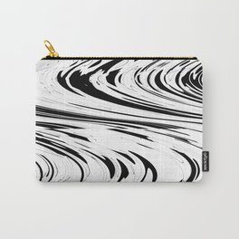 Zigzags in Black and White Carry-All Pouch