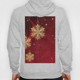 Pretty Christmas Ornaments Red Gold Holiday Decor Hoody