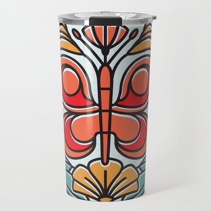 Butterfly tile Travel Mug